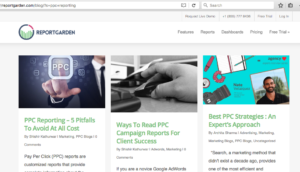 cornerstone page for ppc reporting