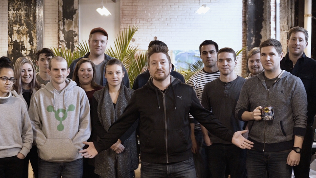 Agency acquisitions:Nick Eubanks and Jeff Gibbard with their team after an acquisition.