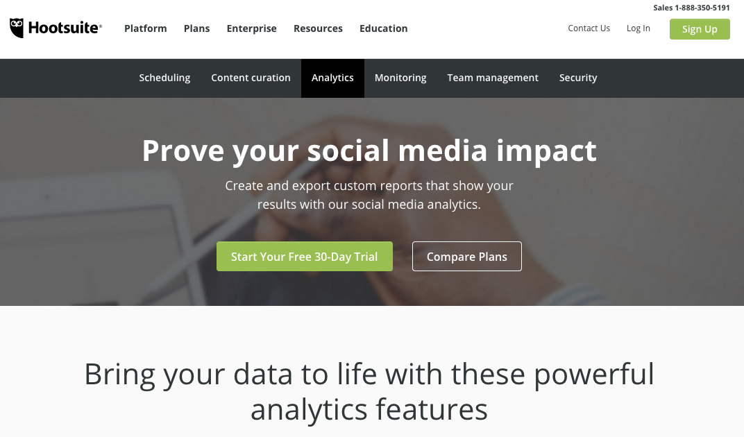 Analytics   Social Media Marketing   Management Dashboard   Hootsuite