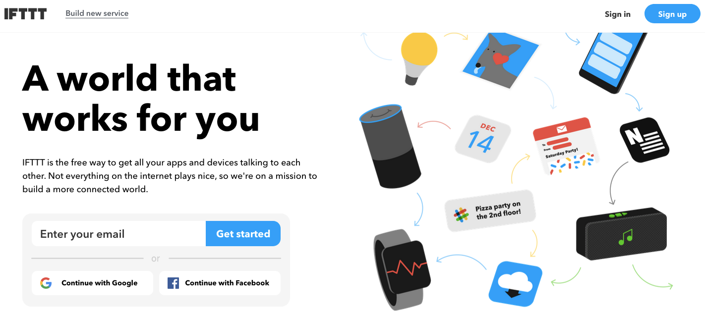 IFTTT helps your apps and devices work together