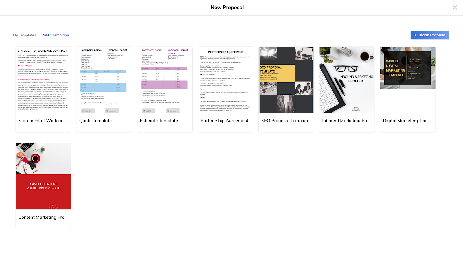 ReportGarden's client proposal templates.